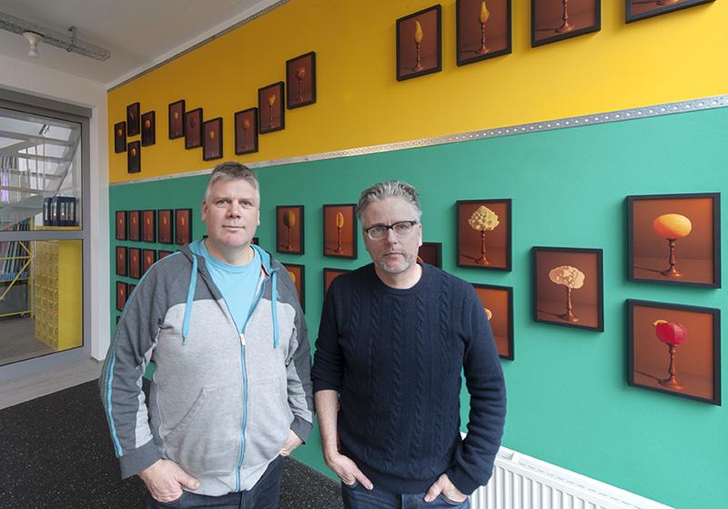 Henri van Nuenen en Hans van Asch Grafic Art Room Eindhoven