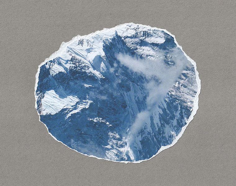 foto rondom de Mount Everest afgescheurd scheurand als gebergte