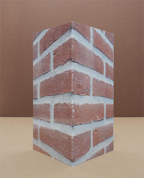 foto van haakse hoek muur precies gevouwen in hoek van 90 graden